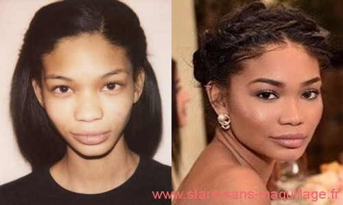 Photos de Chanel Iman sans maquillage