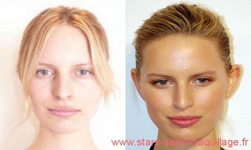 Photos de Karolína Kurková sans maquillage